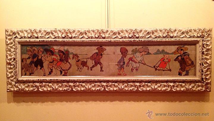 GRAN CUADRO PIEZA DE COLECCIÓN DEL PINTOR FERNANDEZ ROCABERT FECHA 1916 – MCMXVI (Arte - Pintura - Pintura al Óleo Moderna siglo XIX)