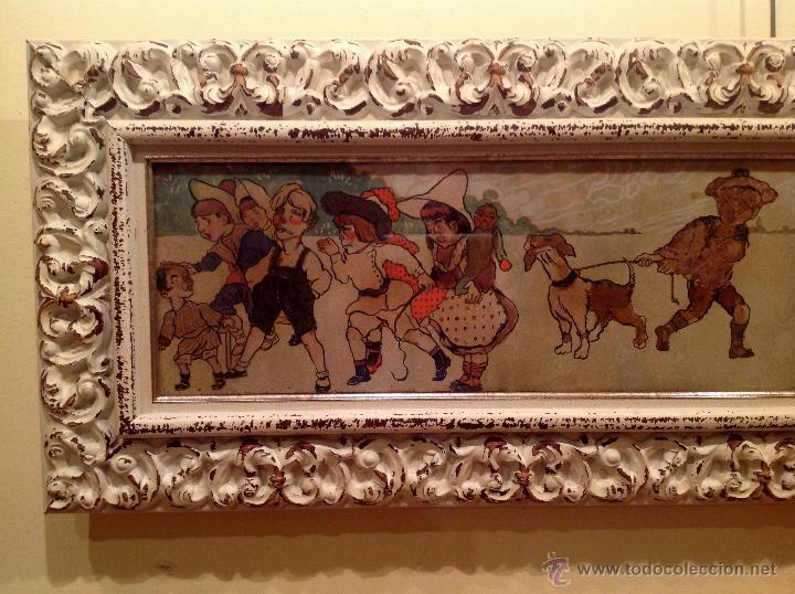 Arte: Gran Cuadro Pieza De Colección Del Pintor Fernandez Rocabert Fecha 1916 – MCMXVI - Foto 2 - 49694147