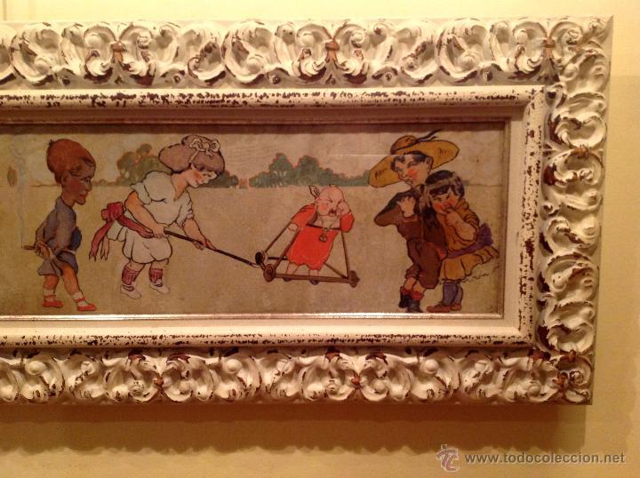 Arte: Gran Cuadro Pieza De Colección Del Pintor Fernandez Rocabert Fecha 1916 – MCMXVI - Foto 3 - 49694147