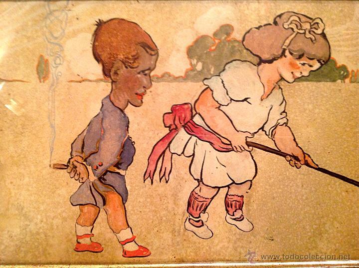 Arte: Gran Cuadro Pieza De Colección Del Pintor Fernandez Rocabert Fecha 1916 – MCMXVI - Foto 5 - 49694147
