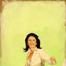 Arte: PINTURA FIGURATIVA RETRATO PENÉLOPE CRUZ. Lote 49724989