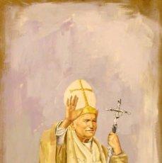 Arte: PINTURA FIGURATIVA RETRATO PAPA JUAN PABLO II. Lote 49725055
