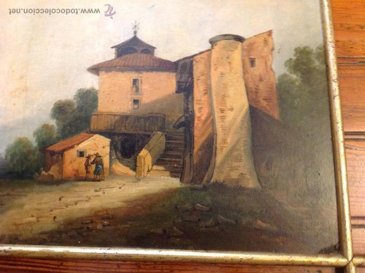 Arte: oleo sobre tablero casas - Foto 2 - 49773238