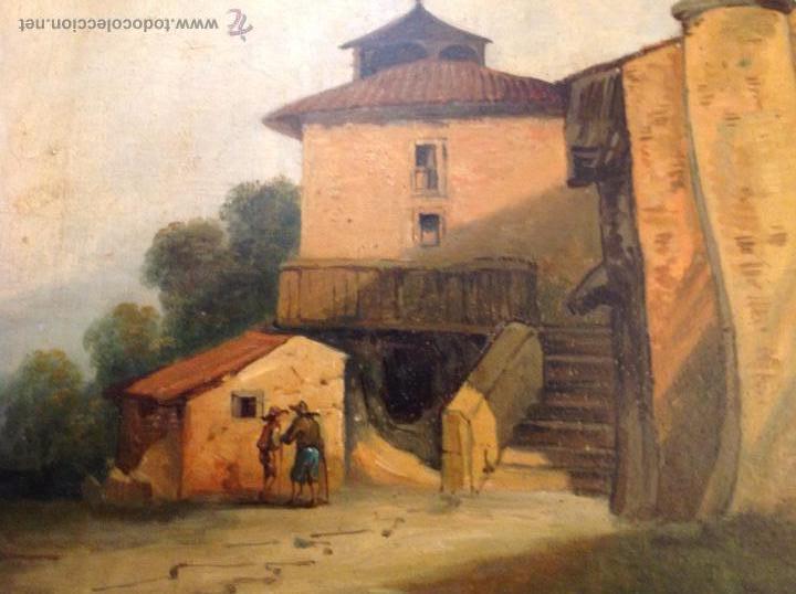 Arte: oleo sobre tablero casas - Foto 3 - 49773238
