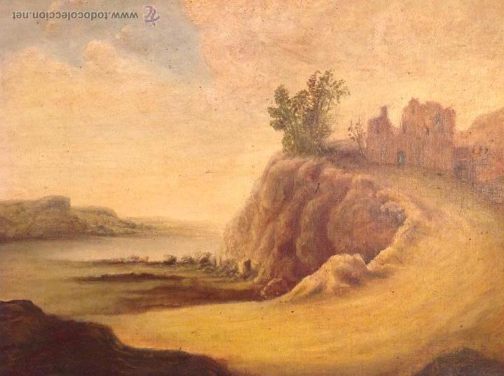 Arte: oleo sobre lienzo casa con camino - Foto 2 - 49773311