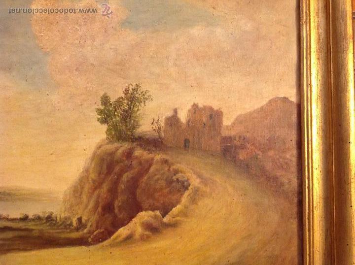 Arte: oleo sobre lienzo casa con camino - Foto 3 - 49773311