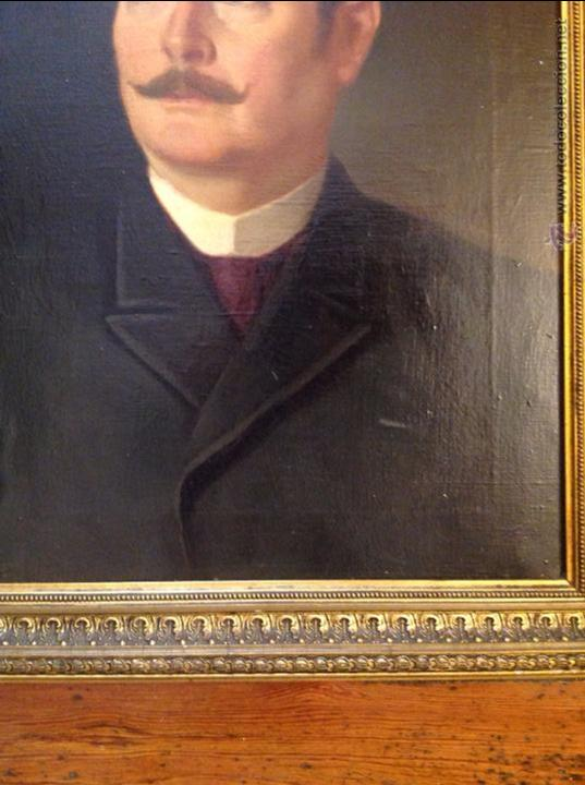 Arte: Oleo sobre lienzo retrato de caballero señor - Foto 3 - 49773405
