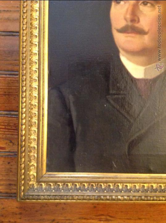 Arte: Oleo sobre lienzo retrato de caballero señor - Foto 4 - 49773405