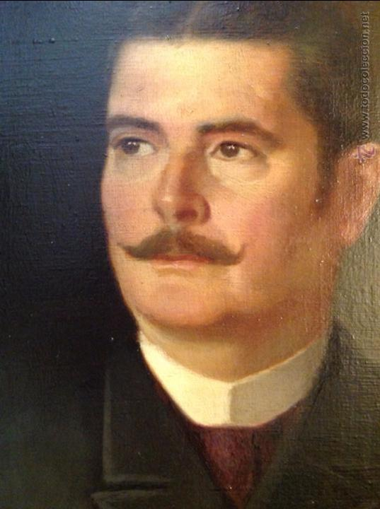 Arte: Oleo sobre lienzo retrato de caballero señor - Foto 5 - 49773405