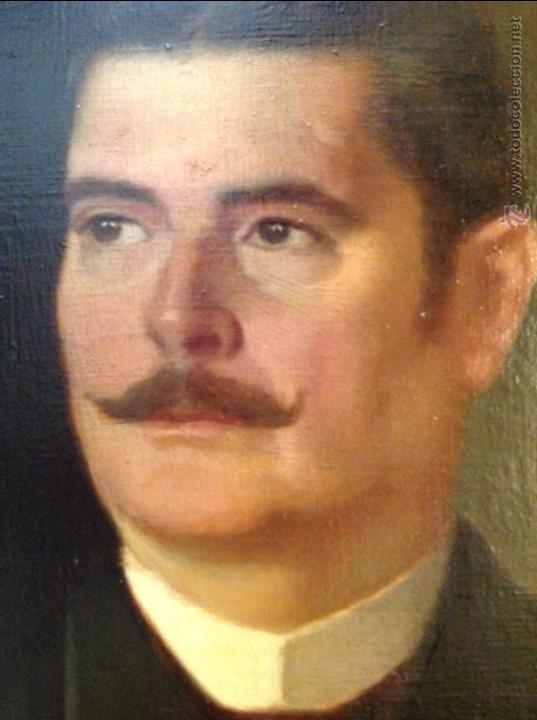 Arte: Oleo sobre lienzo retrato de caballero señor - Foto 7 - 49773405