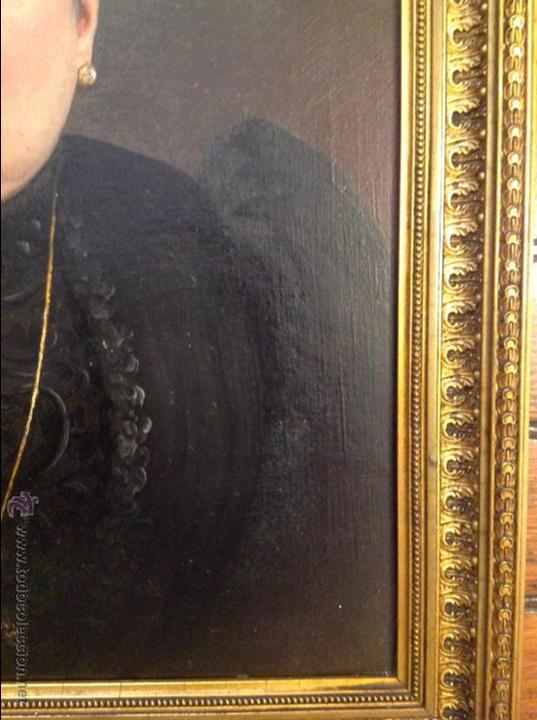 Arte: Oleo sobre lienzo retrato de señora - Foto 3 - 49773452