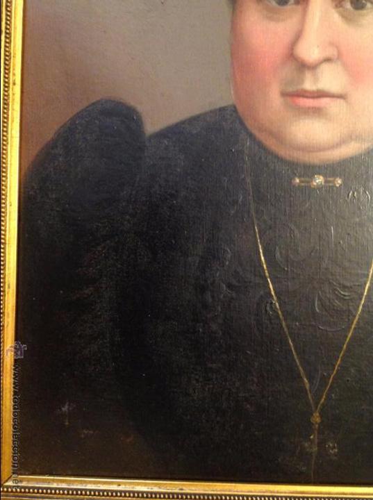 Arte: Oleo sobre lienzo retrato de señora - Foto 4 - 49773452