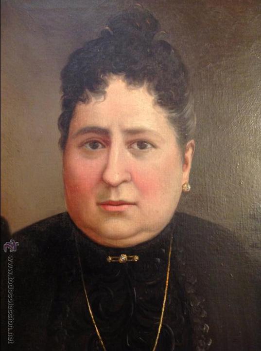 Arte: Oleo sobre lienzo retrato de señora - Foto 5 - 49773452