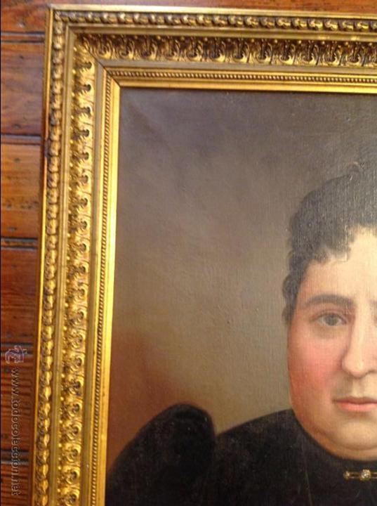 Arte: Oleo sobre lienzo retrato de señora - Foto 6 - 49773452