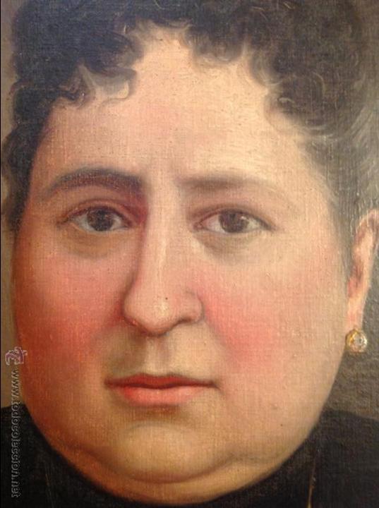 Arte: Oleo sobre lienzo retrato de señora - Foto 7 - 49773452
