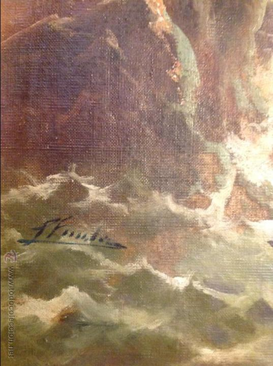 Arte: Oleo sobre lienzo alcantilado con casa - Foto 3 - 49773622