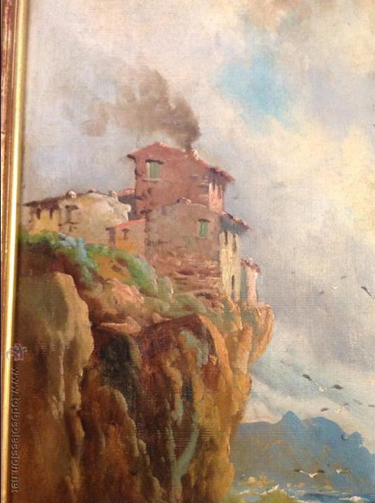 Arte: Oleo sobre lienzo alcantilado con casa - Foto 4 - 49773622