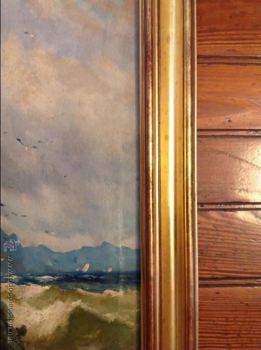 Arte: Oleo sobre lienzo alcantilado con casa - Foto 5 - 49773622