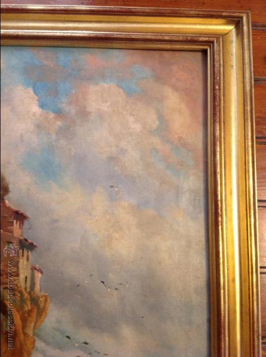 Arte: Oleo sobre lienzo alcantilado con casa - Foto 6 - 49773622