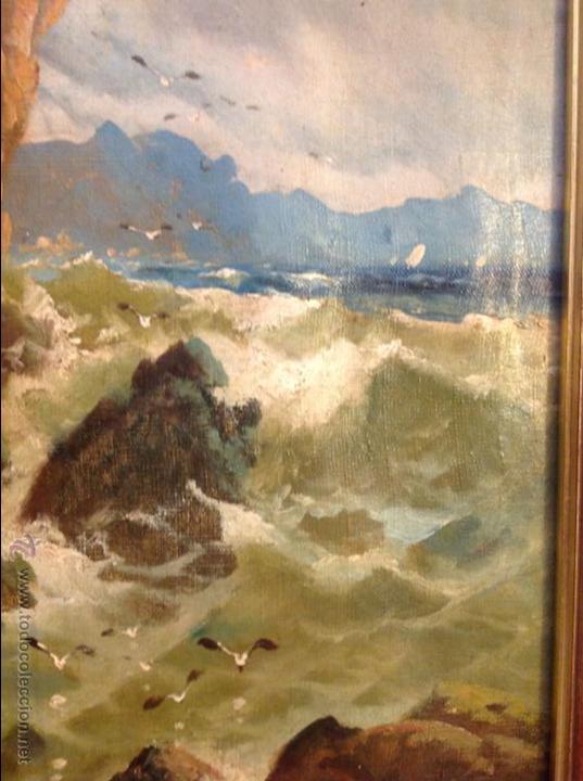 Arte: Oleo sobre lienzo alcantilado con casa - Foto 7 - 49773622