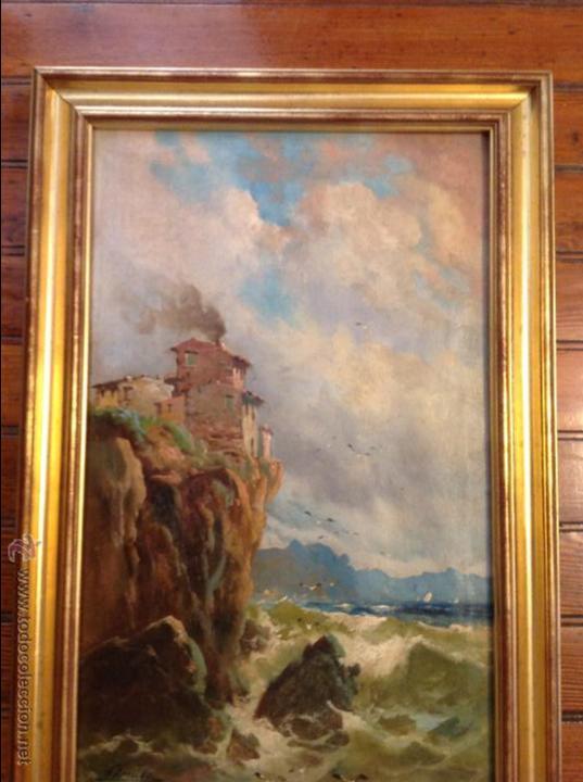 Arte: Oleo sobre lienzo alcantilado con casa - Foto 8 - 49773622
