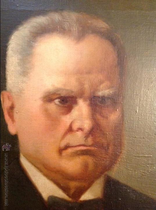 Arte: Oleo sobre lienzo retrato de caballero señor - Foto 2 - 49773673