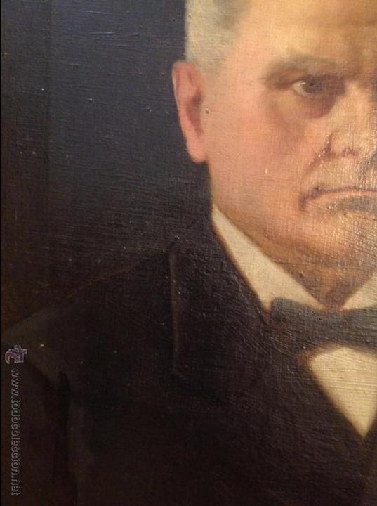 Arte: Oleo sobre lienzo retrato de caballero señor - Foto 3 - 49773673