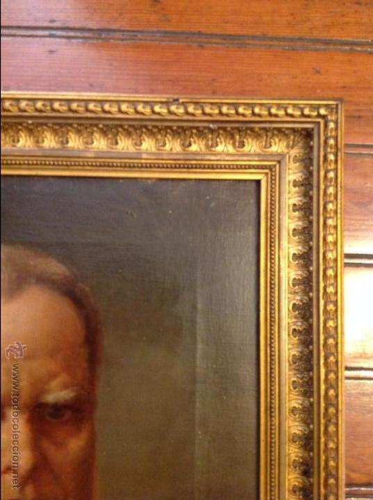 Arte: Oleo sobre lienzo retrato de caballero señor - Foto 4 - 49773673