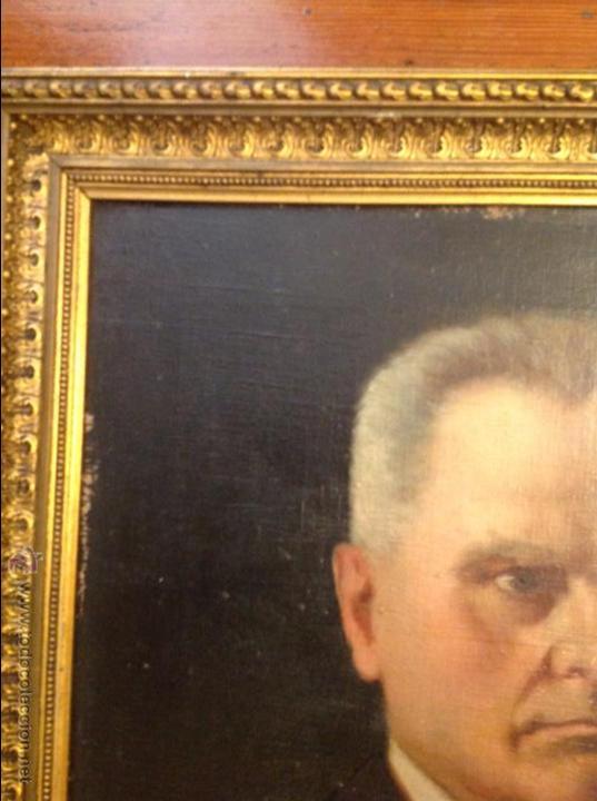 Arte: Oleo sobre lienzo retrato de caballero señor - Foto 5 - 49773673