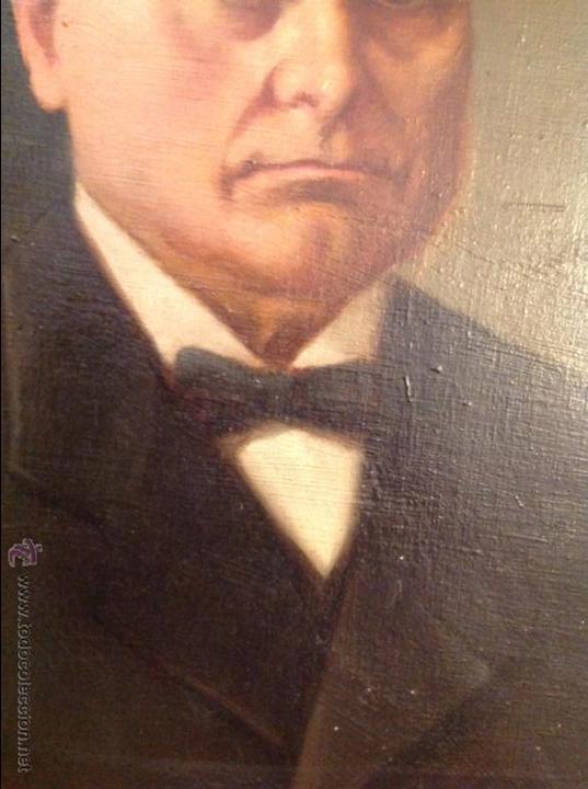 Arte: Oleo sobre lienzo retrato de caballero señor - Foto 7 - 49773673