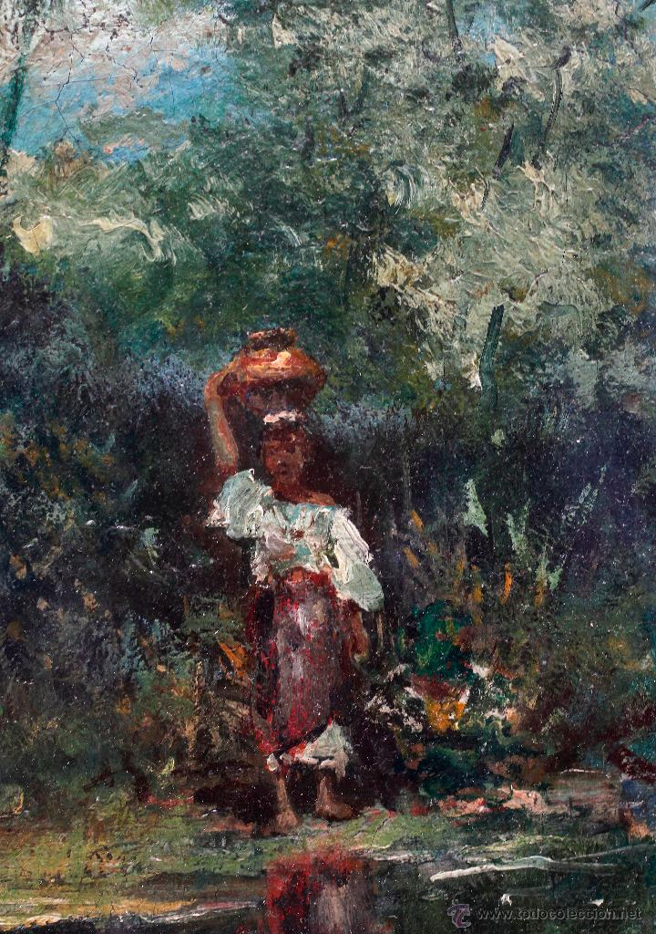Arte: Josep Armet (1843-1911) óleo sobre tela, 40x57cm. marco y cristal: 70x53 cm. - Foto 5 - 49784130