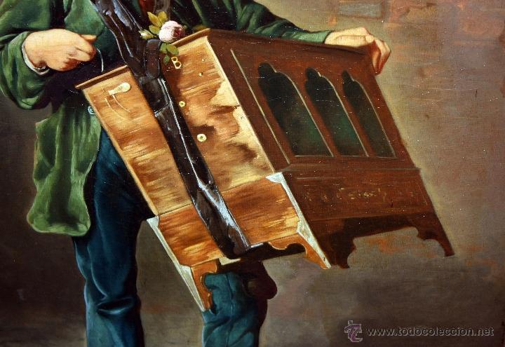 Arte: AD. WÜRTZ (Activo en el área germánica a finales del siglo XIX) OLEO LIENZO. MUSICO AMBULANTE - Foto 2 - 49860540