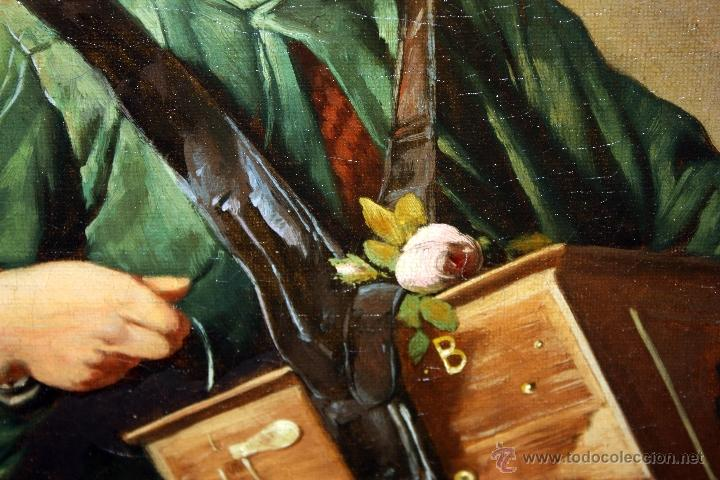 Arte: AD. WÜRTZ (Activo en el área germánica a finales del siglo XIX) OLEO LIENZO. MUSICO AMBULANTE - Foto 4 - 49860540