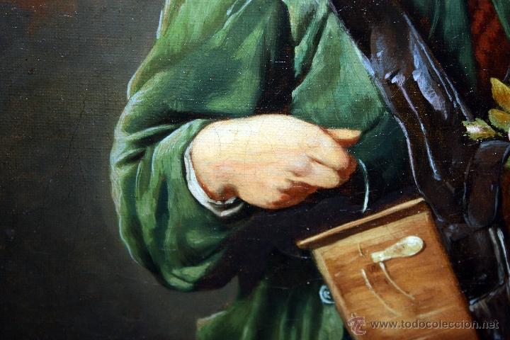 Arte: AD. WÜRTZ (Activo en el área germánica a finales del siglo XIX) OLEO LIENZO. MUSICO AMBULANTE - Foto 5 - 49860540
