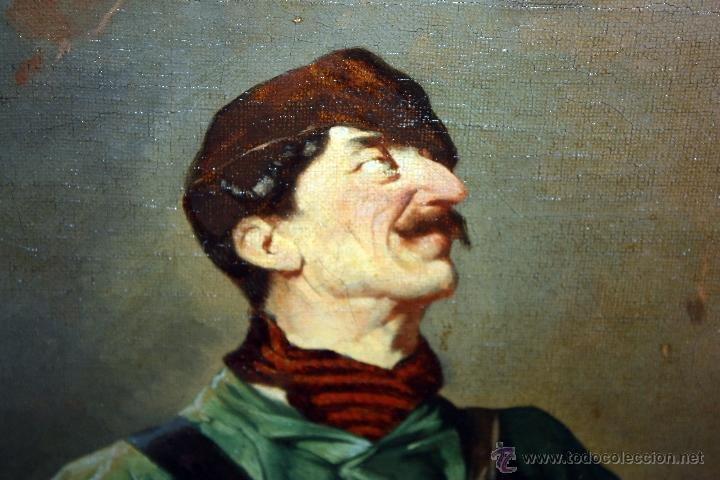 Arte: AD. WÜRTZ (Activo en el área germánica a finales del siglo XIX) OLEO LIENZO. MUSICO AMBULANTE - Foto 6 - 49860540