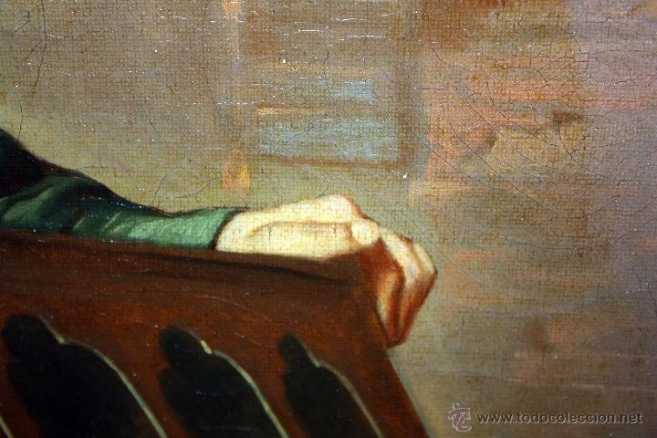 Arte: AD. WÜRTZ (Activo en el área germánica a finales del siglo XIX) OLEO LIENZO. MUSICO AMBULANTE - Foto 12 - 49860540