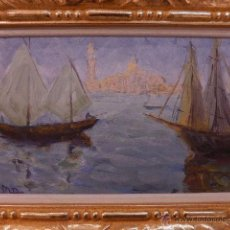 Arte: OLEO SOBRE TABLA. PINTURA IMPRESIONISTA FRANCESA. FIRMADA MB. BAROCNE. 1888. MENTON.. Lote 49893073