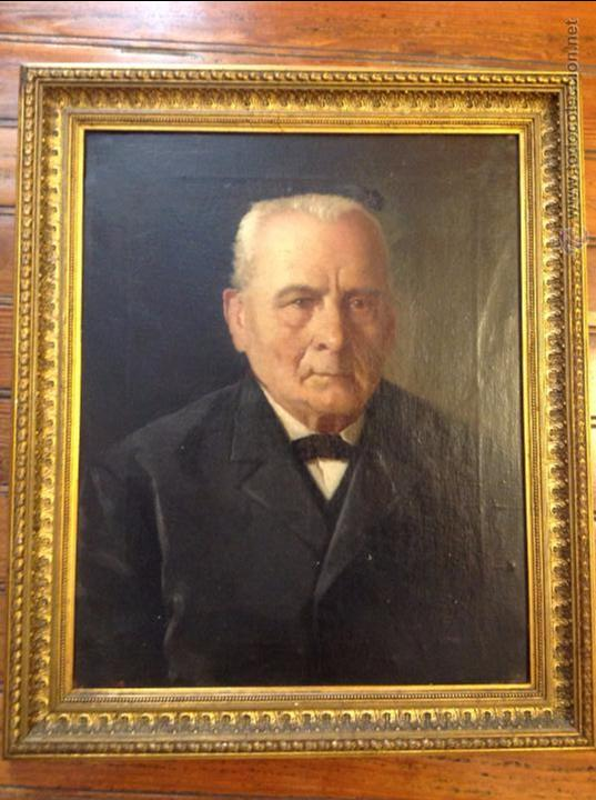 Arte: Oleo sobre lienzo retrato de caballero señor - Foto 2 - 49920399