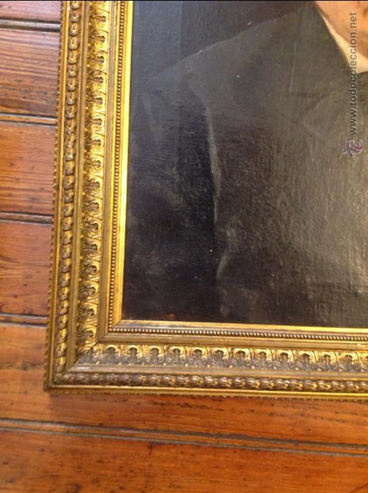 Arte: Oleo sobre lienzo retrato de caballero señor - Foto 3 - 49920399