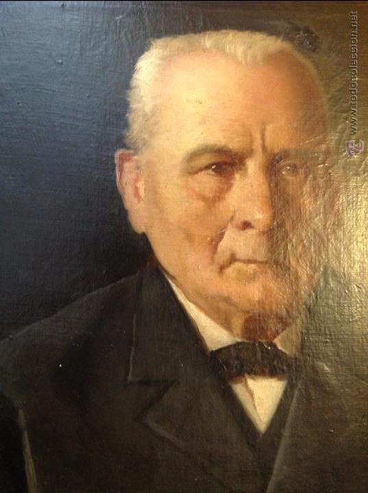 Arte: Oleo sobre lienzo retrato de caballero señor - Foto 5 - 49920399