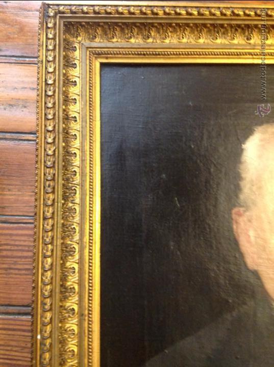 Arte: Oleo sobre lienzo retrato de caballero señor - Foto 6 - 49920399