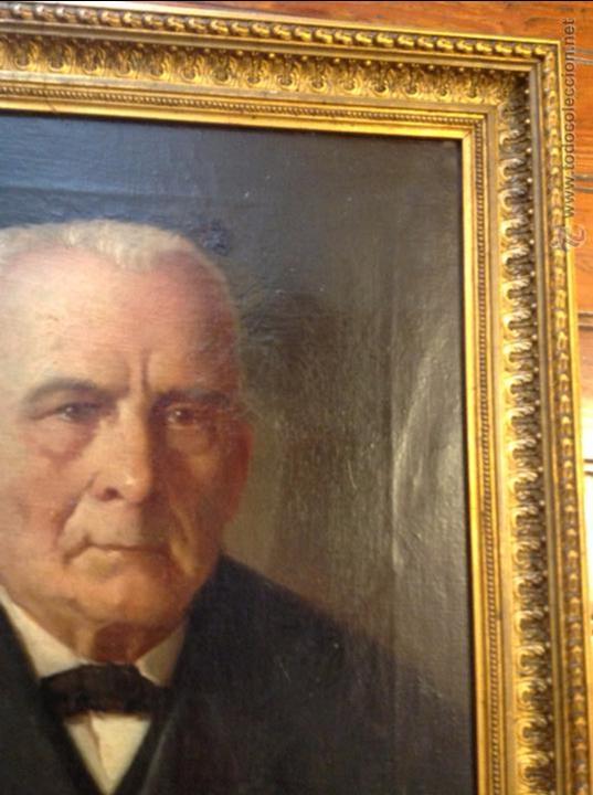 Arte: Oleo sobre lienzo retrato de caballero señor - Foto 7 - 49920399