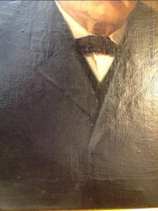 Arte: Oleo sobre lienzo retrato de caballero señor - Foto 8 - 49920399