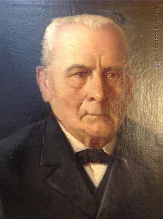 Arte: Oleo sobre lienzo retrato de caballero señor - Foto 12 - 49920399