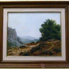 Arte: BONITO OLEO CON MARCO FIRMADO GREGORIO HERNANDEZ 1965. Lote 49953789
