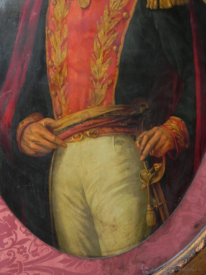 Arte: Pintura al oleo de Simón Bolívar, siglo XIX Venezuela, pintado al oleo sobre tabla, grandisimo con e - Foto 3 - 50045855