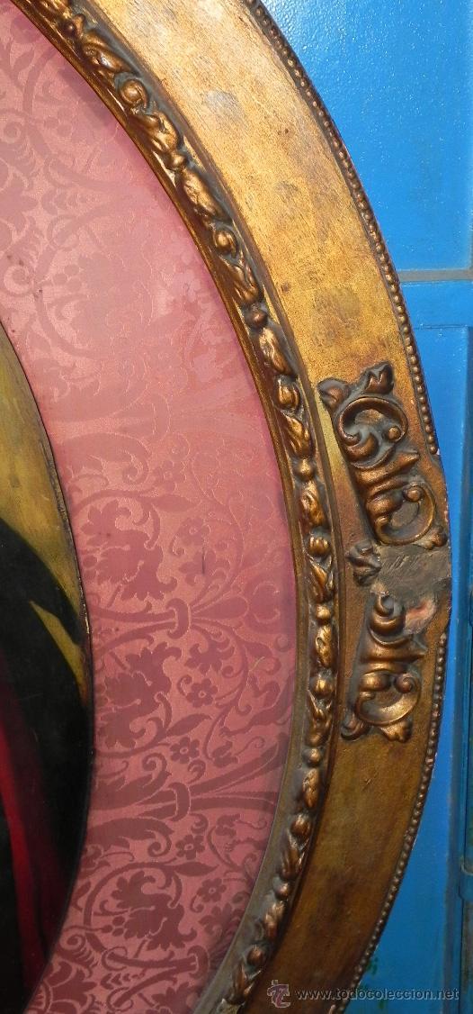 Arte: Pintura al oleo de Simón Bolívar, siglo XIX Venezuela, pintado al oleo sobre tabla, grandisimo con e - Foto 6 - 50045855
