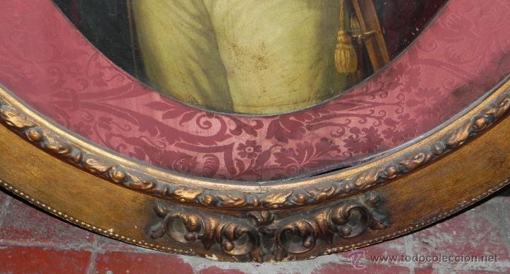 Arte: Pintura al oleo de Simón Bolívar, siglo XIX Venezuela, pintado al oleo sobre tabla, grandisimo con e - Foto 7 - 50045855