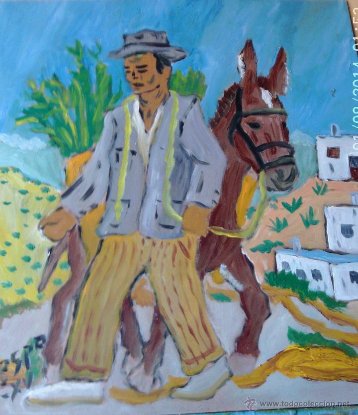LABRADOR, ÓLEO SOBRE MADERA 50X45 CM. DE CRESPO (Arte - Pintura - Pintura al Óleo Contemporánea )