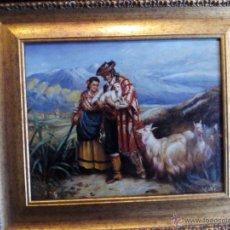 Arte: OLEO SOBRE TELA COSTUMBRISTAS ENCAMADO ORO PERFECTO ESTADO CON FORMATO 56 X 48 CMS. Lote 50075106